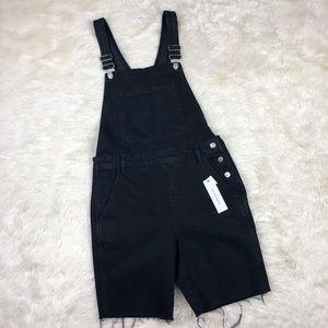 Topshop black short overalls